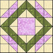 Block of Day for July 22, 2016 - Garden Path-strip piecing-The pattern may be downloaded until: Monday, August 1, 2016.