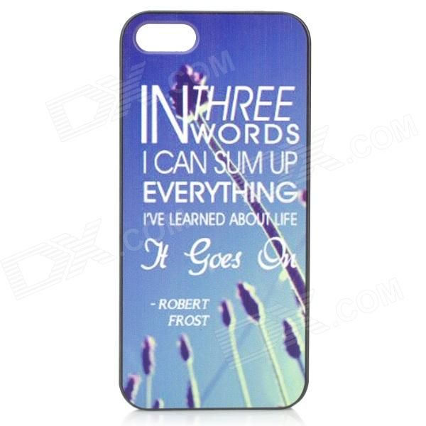 Color: Black + Colorful; Quantity: 1 Piece; Material: PC; Shade Of Color: Blue; Compatible Models: IPHONE 5S,IPHONE 5; Design: Mixed Color,Graphic; Style: Back Cases; Packing List: 1 x Case; http://j.mp/1ljQ5mS