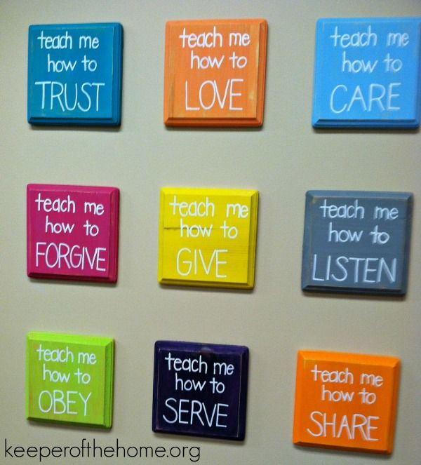 teach me wall: kid DIY Christian craft projects for the home