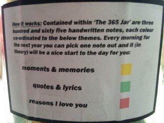 Le mode d'emploi de la 365 Jar