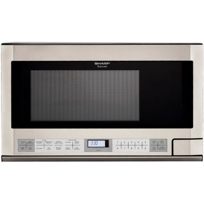 Free Shipping Available Buy Sharp 1 5 Cu Ft 1100w Over The Counter Microwave In Stainl Over The Counter Microwave Sharp Microwave Stainless Steel Microwave