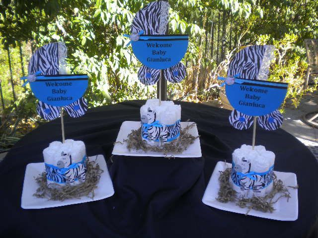 Blue Safari Baby Shower Centerpieces   Request A Custom Order And Have  Something Made Just For