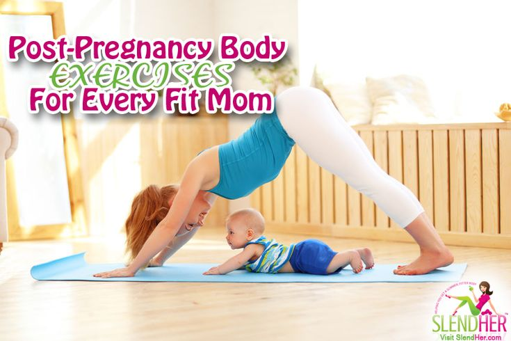 Post-Pregnancy Body Exercises for Every Fit Mom - http://www.slendher.com/health-news/post-pregnancy-exercises-fit-moms/  Workouts aside, as a new mom you've already done one of the strongest things your body will ever do–bringing that little bundle of joy to life. But with all the attention you're showing that wee one, don't forget about you, too, mommy.  Your post-pregnancy body may look like a mere shell o...
