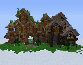 Fantasy Elven City Gates - GrabCraft - Your number one source for MineCraft buildings, blueprints, tips, ideas, floorplans!