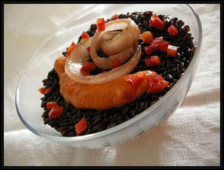 Riso venere alla crema di peperone - La pentola dei desideri