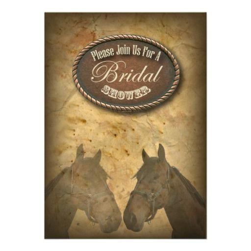 Western Horses Cowgirls Bridal Shower Invitation