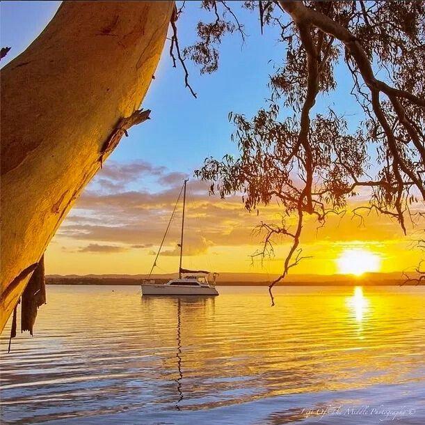 #AustraliaItsBig - Sunrise at Lake Macquarie,NSW