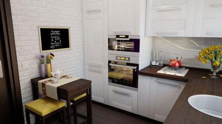 Дизайн маленькой кухни: 50+ фото, планировки, идеи 2017 года