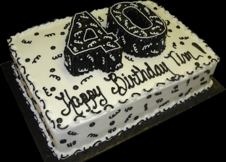 40th birthday sheet cakes - Google Search