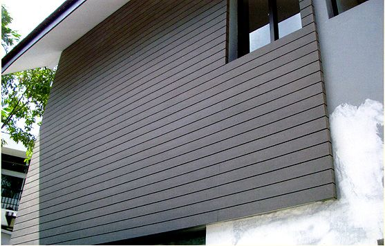 wooden outdoor wall decorations garden easy install wood plastic wall,exterior wall,cladding wood plastic suppliers American