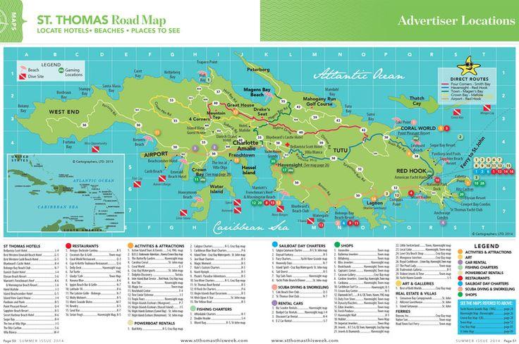 St. Thomas Island Road Map :: St. Thomas Maps :: Virgin Islands Vacation Guide