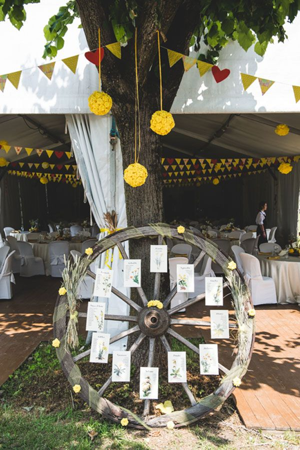rustic seating plan http://weddingwonderland.it/2016/02/un-matrimonio-country-famiglia.html