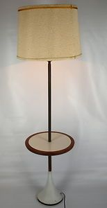 floor lamp table combination vintage mid century modern heavy tulip b. Black Bedroom Furniture Sets. Home Design Ideas