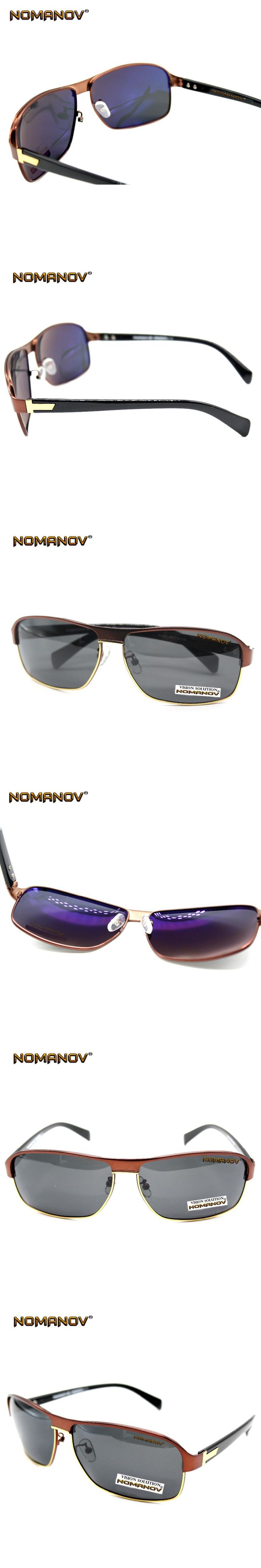 = NOMANOV BRAND = Brown Brandnew Back Coated Tac Harden Lens Polarized Sheild Sunglasses Sunshades Polaroid With Testing Card