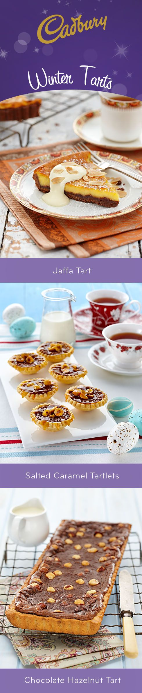 Nothing could be more comforting on a cold winter's day than a delicious tart! #bakeitcadbury #baking #chocolate #dessert #tarts