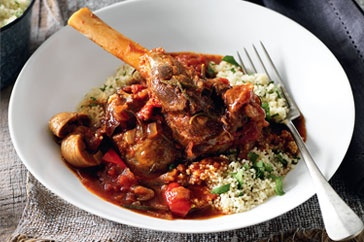 Fig and paprika lamb with herb couscous  Aussies sure know their lamb, and this pressure cooked recipe is a winner!