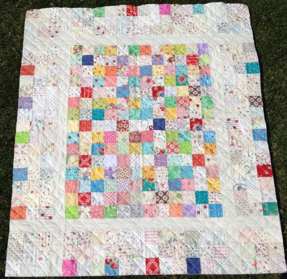 Baby S Breath Baby Quilt Pattern 40 Quot X 46 Quot Simple Scrappy