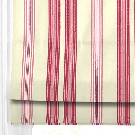 Classic deck chair stripe in great candy colours - perfect for a modern Roman Blind. #247 #blinds #home decor