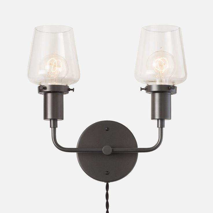 electric wall sconces modern lighting. abrams double plugin sconce 225 schoolhouse electric wall sconces modern lighting e