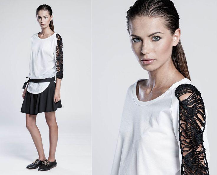 #SS15 #terrealtestyle #handmade #madeinitaly #luxury #knitwear #clothes #fashion #style T-shirt handmade-sleeve