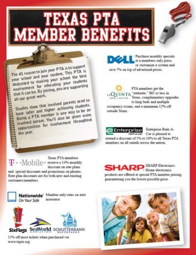 Texas PTA Member Discounts More...