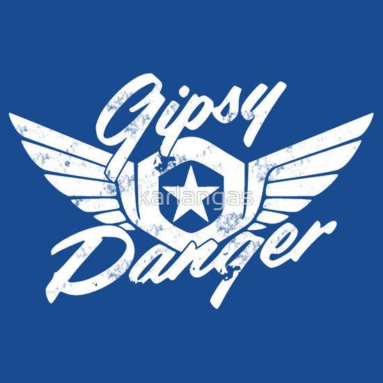 Gipsy Danger Logo vintage white | Old Redbubble Artwork