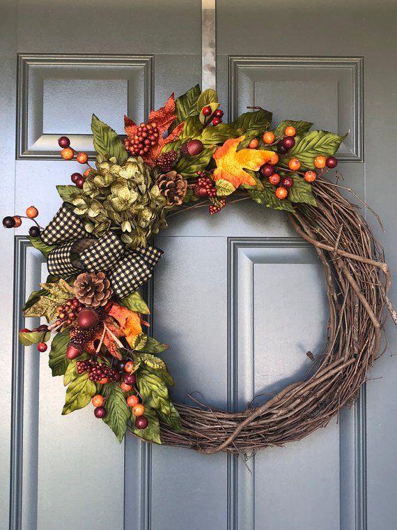 42+ Elegant front door wreaths fall trends
