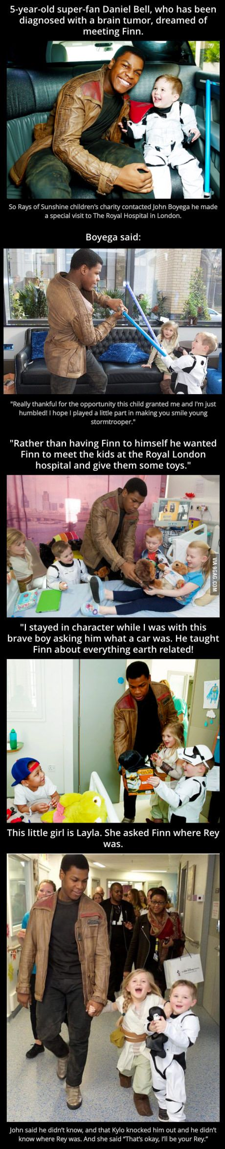 John Boyega Visits Sick Children While Dressed as Finn