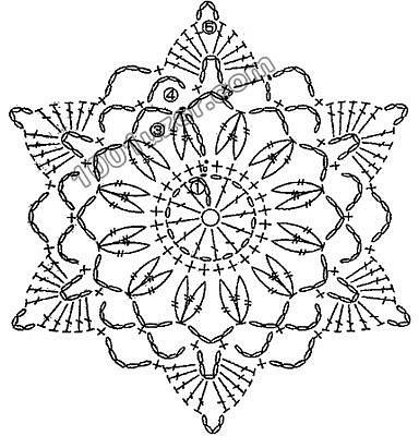Gallery.ru / Photo # 20 - Crochet Motifs - larisa1974 CHART of Photo # 18