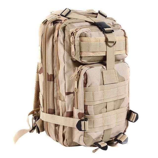 Large Capacity 30L Hiking Camping Army Military Tactical Trekking Rucksack Backpack