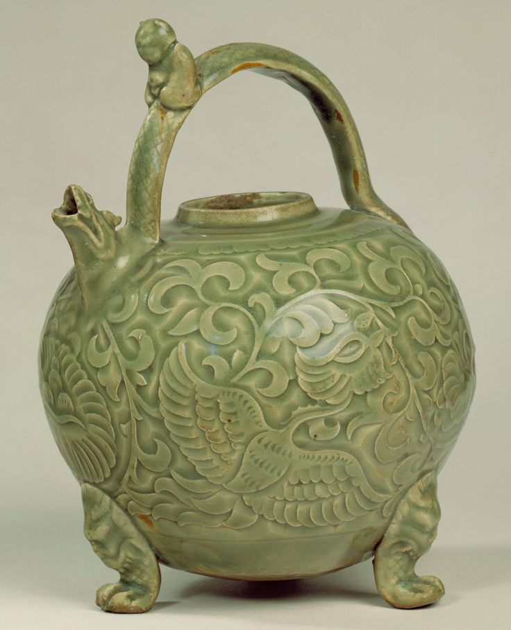 Ewer with phoenixes, song dynasty, china 11th-12th century, metropolitan museum of art