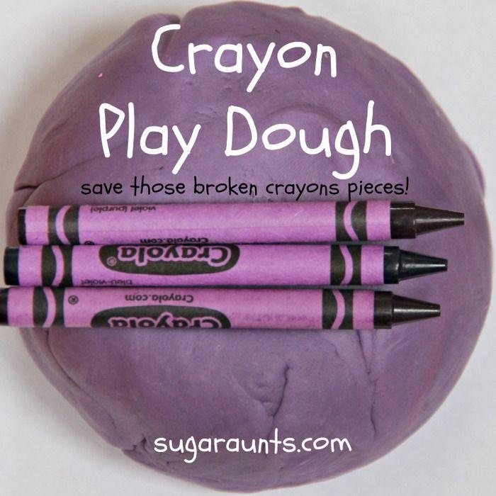 Crayon Play Dough Harold and the Purple Crayon Activity