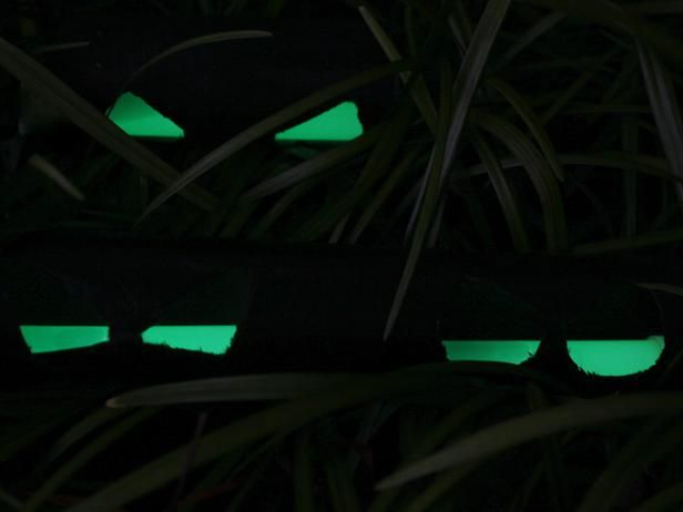 budget friendly outdoor halloween decorations these spooky eyes are reminiscent of every scooby doo - Glow Stick Halloween Decorations