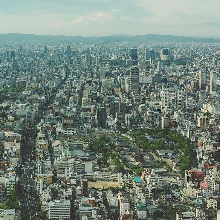 #Осака #сегодня #Япония #город #панорама #высота #300метров #смотроваяплощадка #Абэно