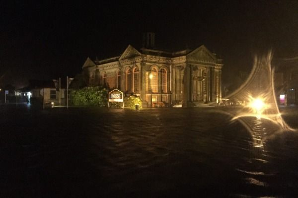 Heavy rain caused flooding in Hokitika on Thursday night - the museum in Hamilton St.