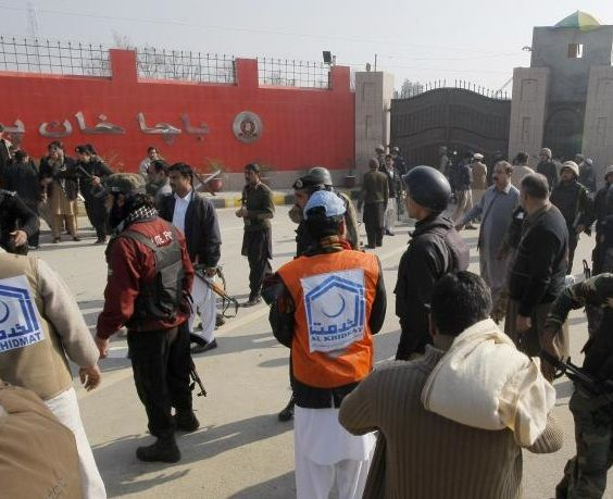 """The Taliban denies involvement in an attack in which 20 students were murdered at northwestern Pakistan university. Taliban spokesman, Mohammad Khurasani, says the attack was """"un-Islamic"""" & insists the Pakistani Taliban was not behind it. Khurasani says those who carry out such attacks should be tried before an Islamic or Sharia court."""