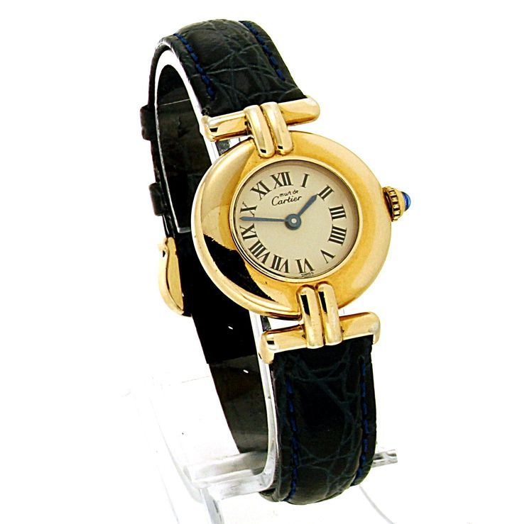 Ladies Must de Cartier Colisee 590002 Vermeil Gold Plated Silver Quartz Watch 24mm. - article number: CA0450 #watch #cartier #cartierwatches | cartier watches women | cartier horloge dames | vintage watches | vintage horloges | horloges dames | SpiegelgrachtJuweliers.com