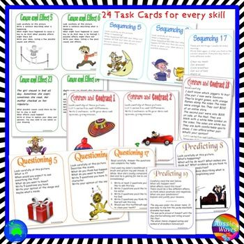READING COMPREHENSION SKILLS BUNDLE 10 Anchor Charts 240 Task Cards