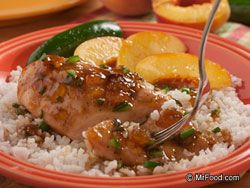 Some like it sweet, some like it sassy, but everyone who tries this zesty Jalapeno Peach Chicken dish surely likes the contrast of the sweet peach preserves and the spicy jalapeno peppers!      Serves: 6         Ingredients      6  (4-ounce) skinless, boneless chicken breast halves  1/2   teaspoon salt  1/2   teaspoon black pepper  1/2   cup peach preserves…