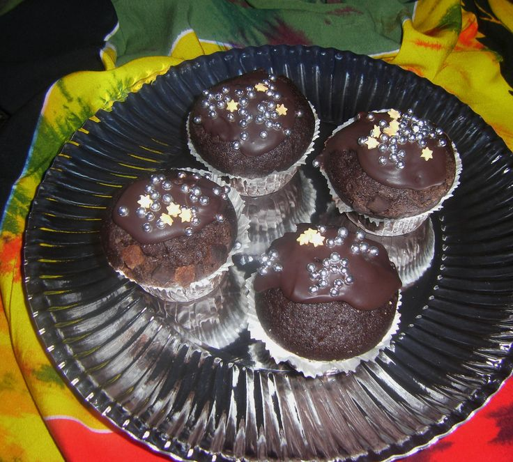 Dark Chocolate 80%Cocoa & Dark Rum Muffins