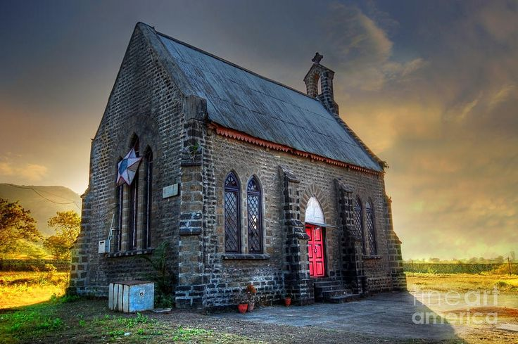 Old Church Paintings | Old Church Photograph by Charuhas Images - Old Church Fine Art Prints ...