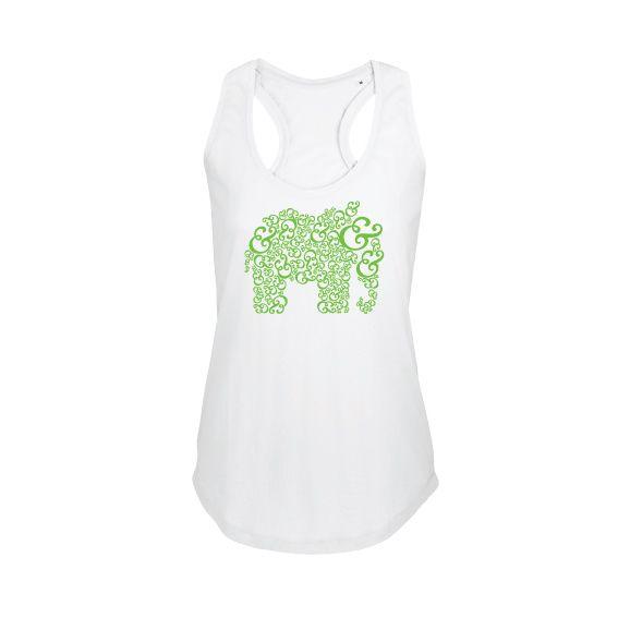 Dames | tanktop Ampersand elehpant (800579)