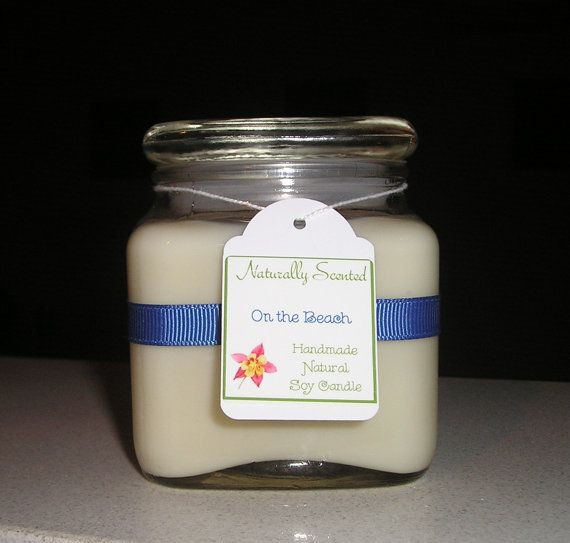 On The Beach Soy Candle by NaturallyScented on Etsy, $16.00