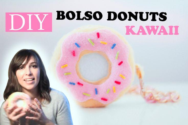 Como hacer un bolso Kawaii imitando a una rosquilla / donuts / dona como la de los Simpsons reciclando, con este tutorial DIY. Dale a me gusta…