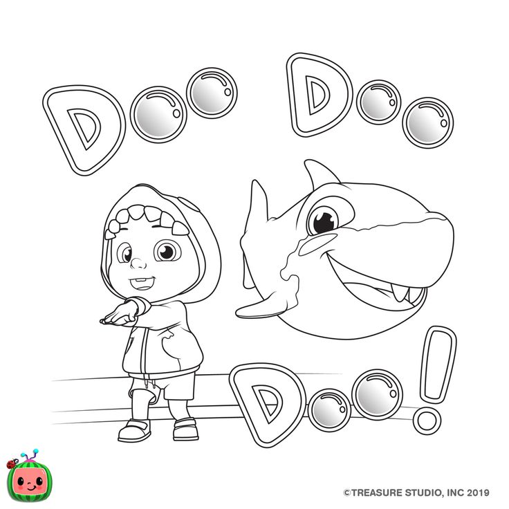 Other Coloring Pages — cocomelon.com in 2020 | Shark ...