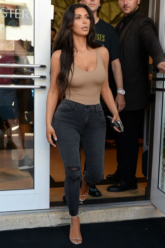 Not for sure whether to put this in Beauty or My Style because Kim slays both