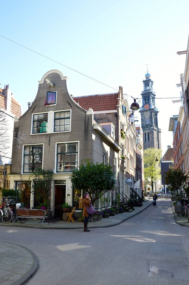 Sunny day in the Jordaan! Where my mum lived as a teenager!