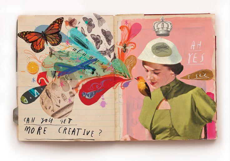 Páginas do sketchbook de Oliver Jeffers