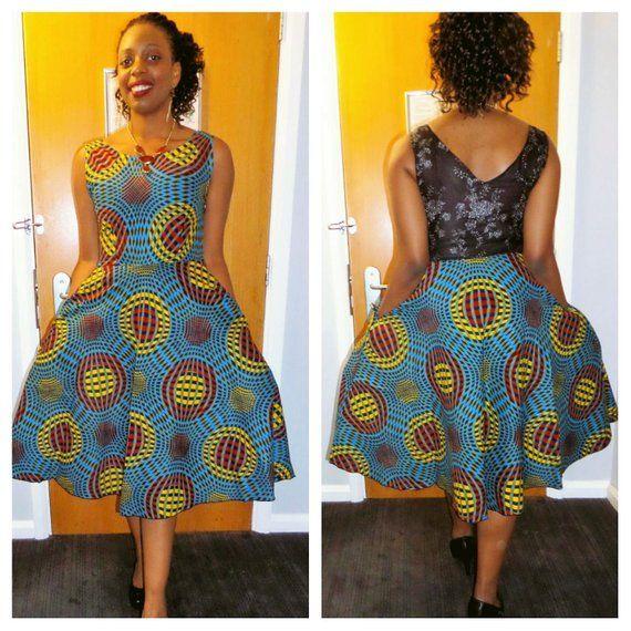 prix de liquidation offrir des rabais utilisation durable Robe courte wax, robe africaine, robe wax, robe pagne ...