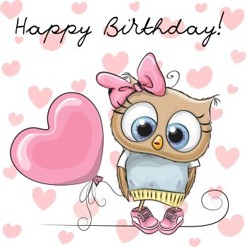 Birthday Owl - Facebook Symbols and Chat Emoticons